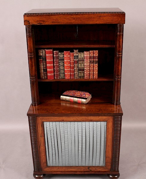 Regency Period Dwarf Bookcase Rosewood