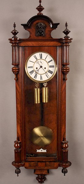 19th century Vienna Wall Clock Two Weights