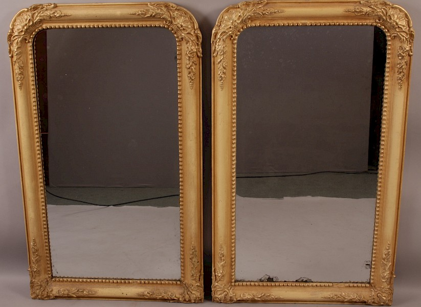 Good Pair of Pier Mirrors Gilded