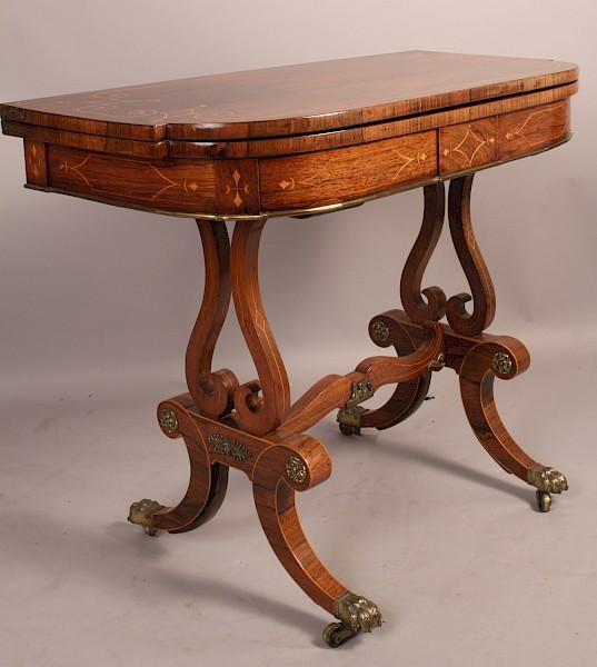 Fine and Rare Regency Period Card Table