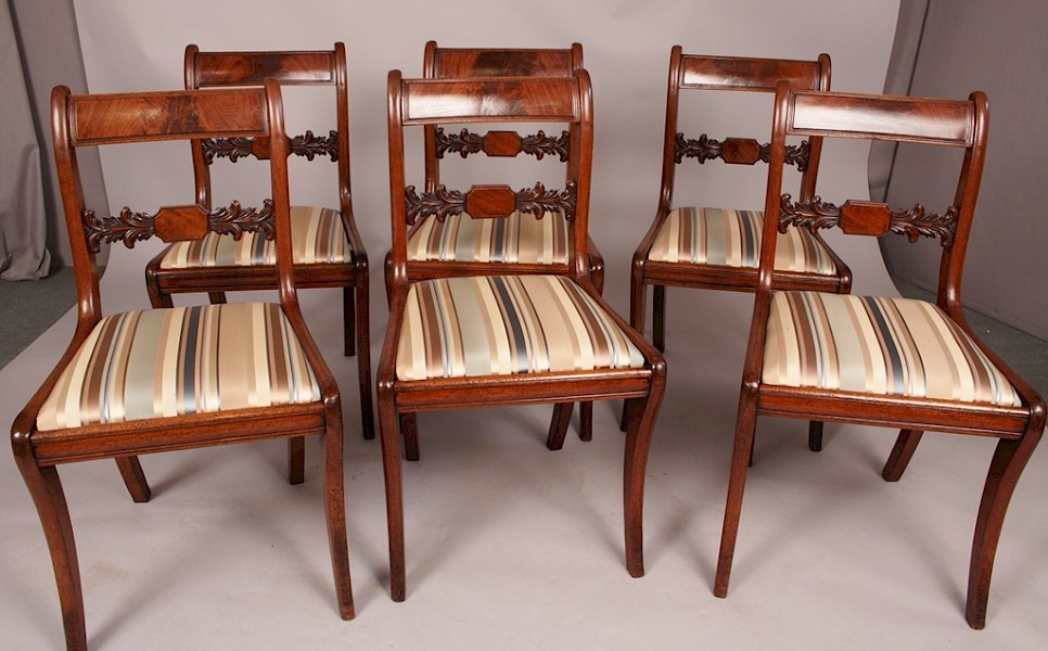 Fine Set of 6 Regency Dining Chairs