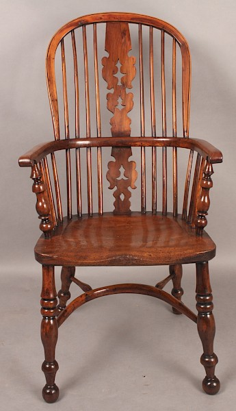 "Fine Yew Wood Windsor High Back"" Worksop""Chair"