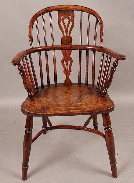 Rare Yew Wood Windsor Chair Fred Walker