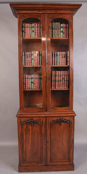 A Very Good Early Victorian Library Bookcase