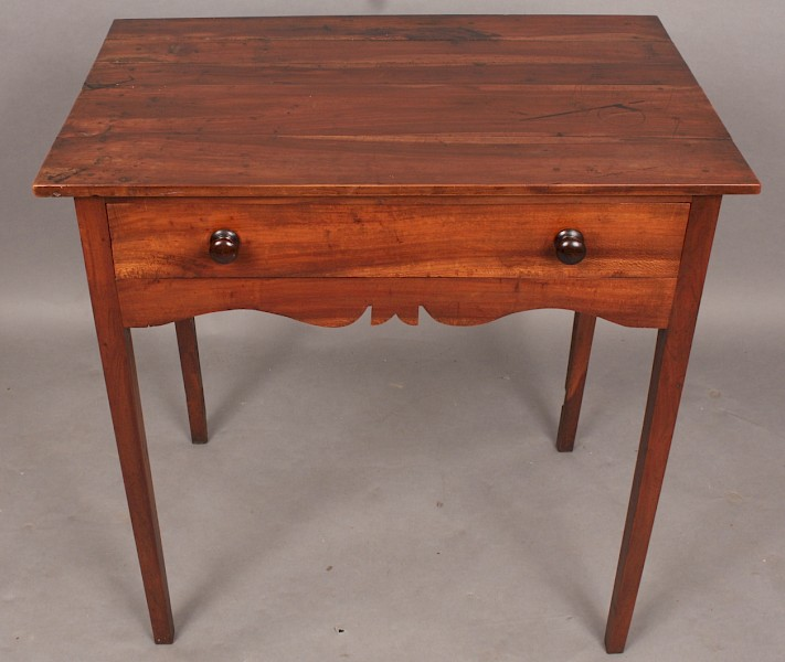 Antique Yew Wood Side Table