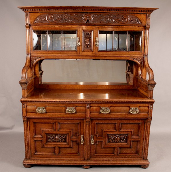 Superb Quality Victorian Sideboard in Oak