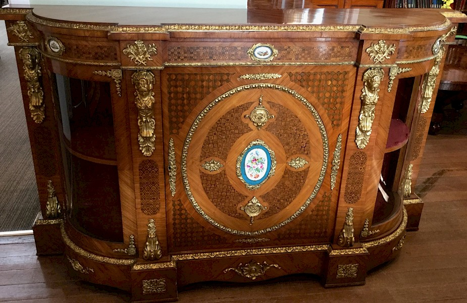 Stunning Victorian Credenza with Ormolu and Porcelain