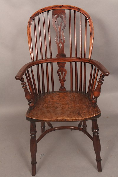 Fine Yew Wood Windsor Chair Rockley Maker