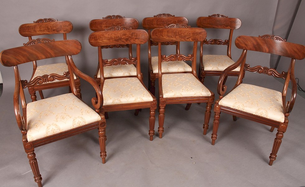 Very Good Set of 8 Victorian Mahogany Dining Chairs