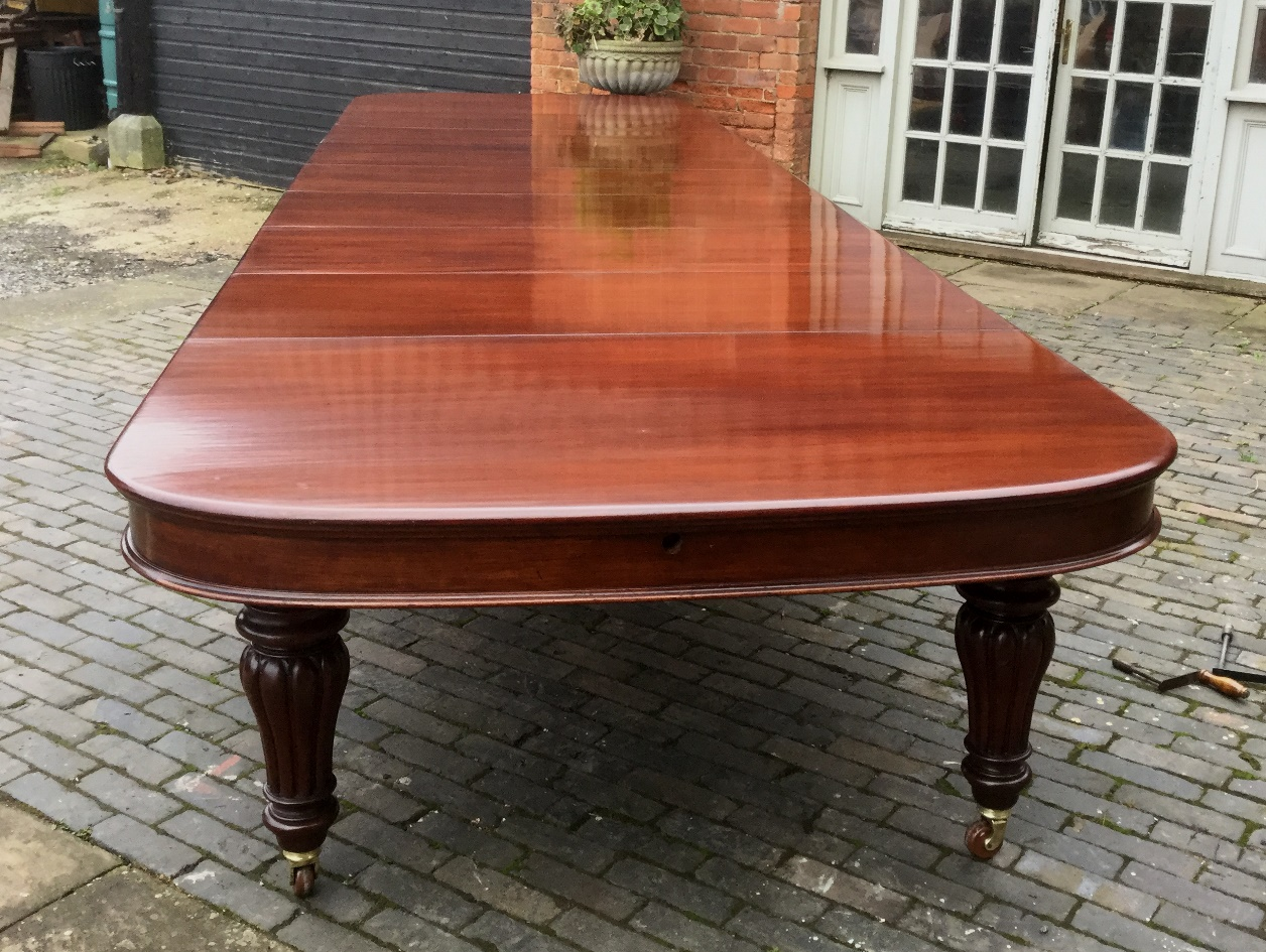 Table Seating For 20: Superb Victorian Very Large Extending Dining Table Seat 20