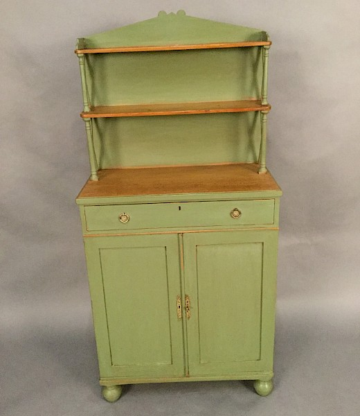 A Rare Small Size Painted Pine Chiffonier