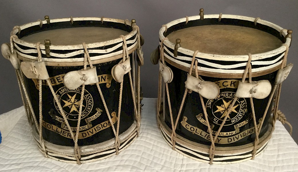 A Pair of Drums Firbeck Colliery St Johns Ambulance