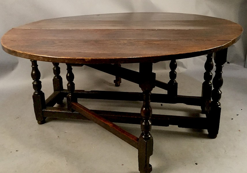 Large 17th Century Gate Table
