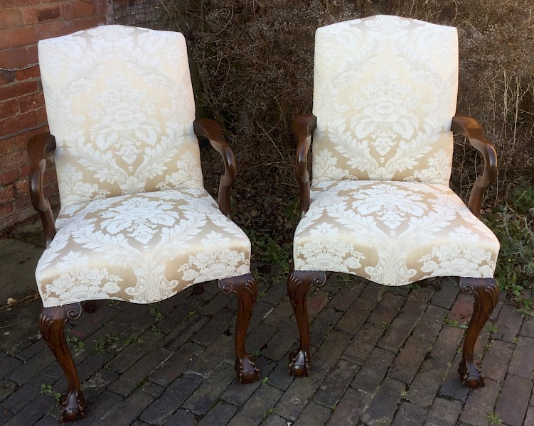 A Pair of Armchair George II Style