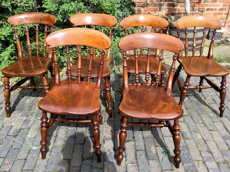 A Rare set of six Alsop Worksop kitchen chairs.