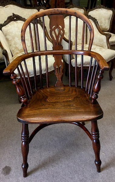 Yew Wood Windsor Chair Rockley Maker