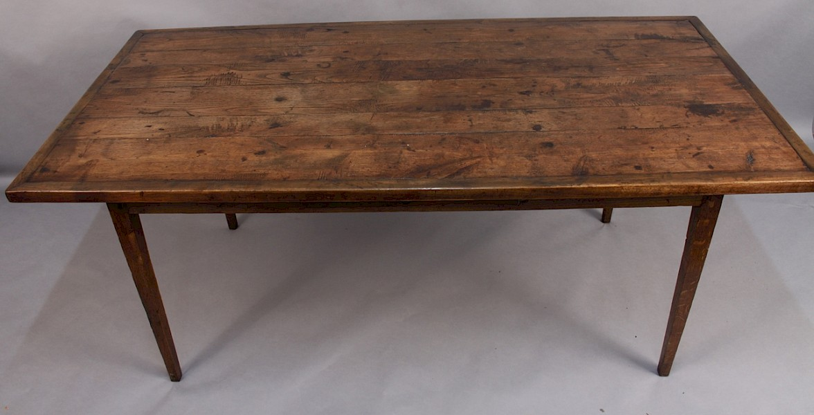 Farmhouse Table with Elm Top super Patina