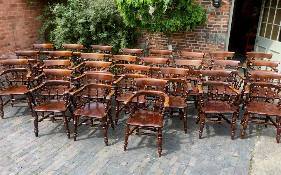 Rare Set of 16 Captains Chairs
