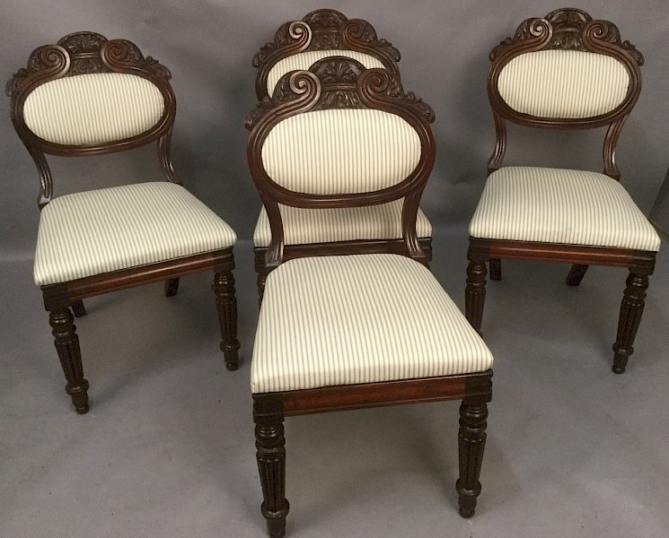 "Fine Set of 4 Dining Chairs ""Gillows Possibly"""