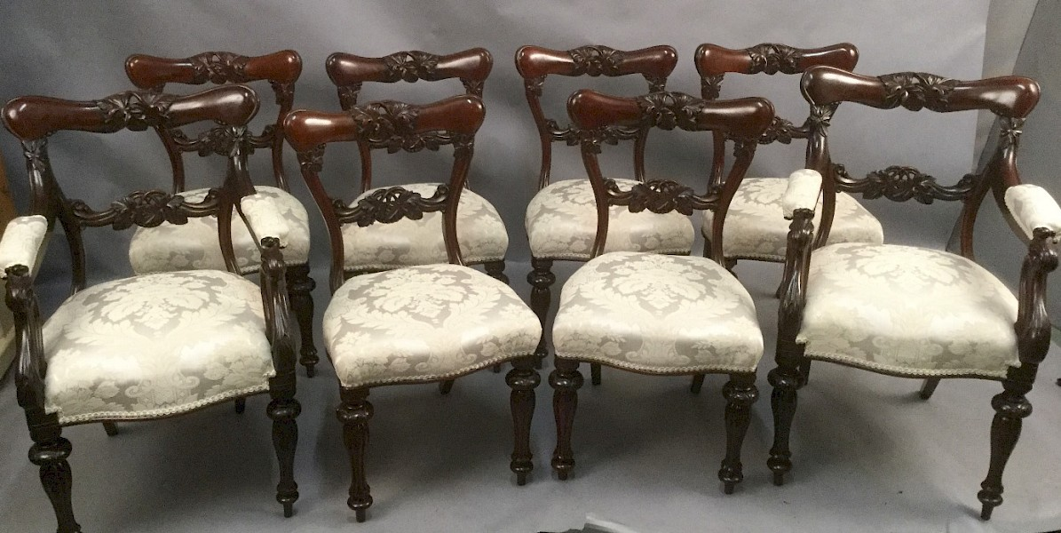 Superb Quality Victorian Dining Chairs SET OF 8 mahogany