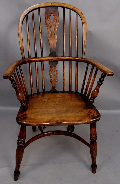 Ash and Elm High Back Windsor Chair