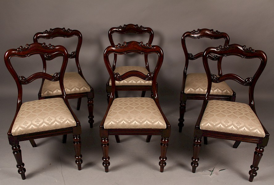 Good Set of  six Early Victorian Dining Chairs