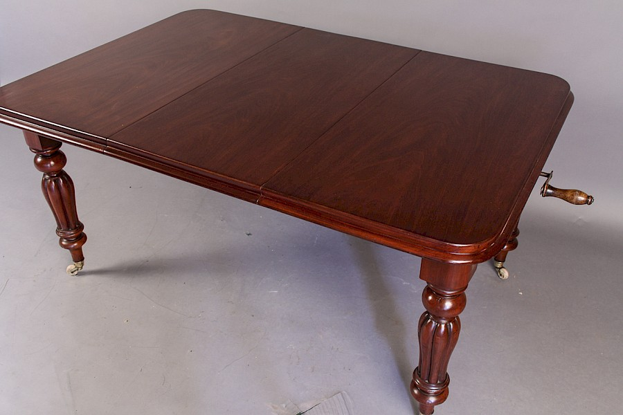 Victorian Extending Dining Table with One Leaf