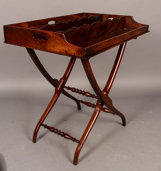 Butlers Tray and Stand Mahogany