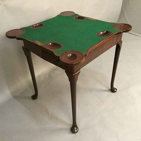 George II Pad Foot Games Table in Mahogany