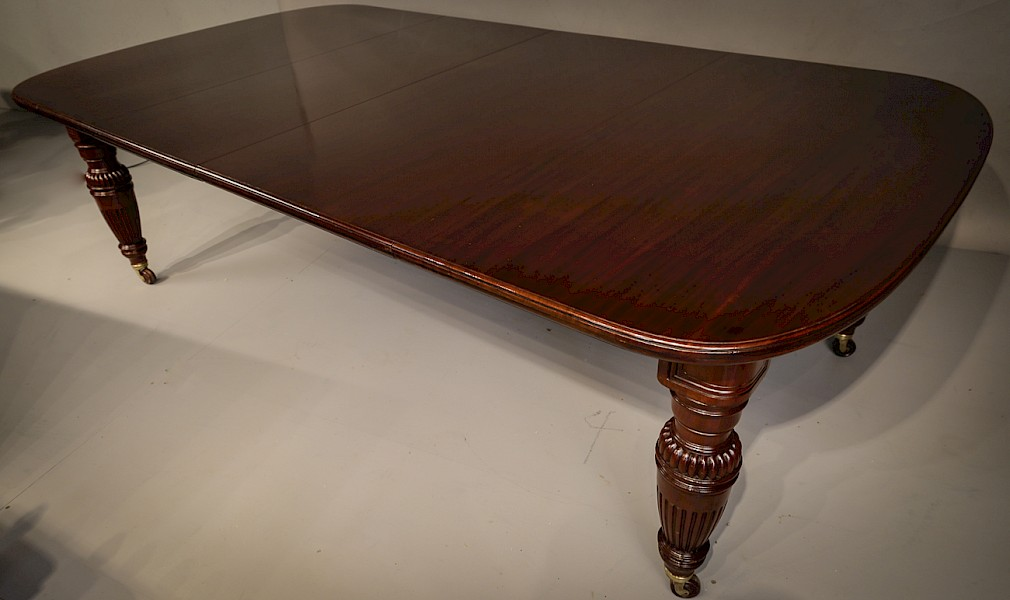 Good Quality Victorian Wind Out Extending Dining Table