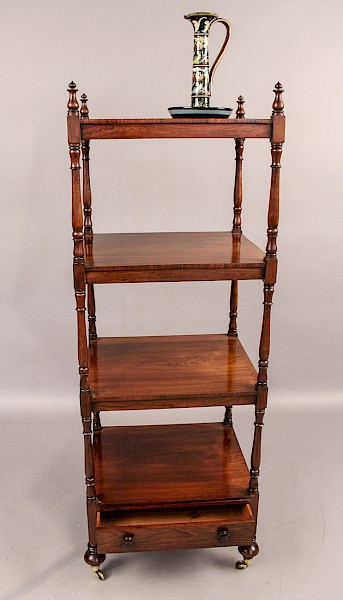 Rosewood 4 Tier Stand Early Victorian