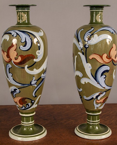 Pair of Arts Vases Wardle c1890
