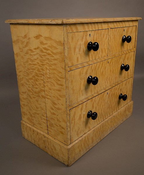 Rare Victorian Pine Chest Scrumbled