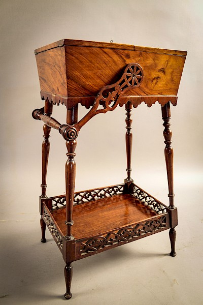 An Unusual Victorian Ladies Sewing Stand