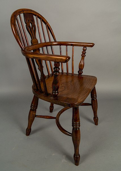 Yew Wood Low Windsor chair