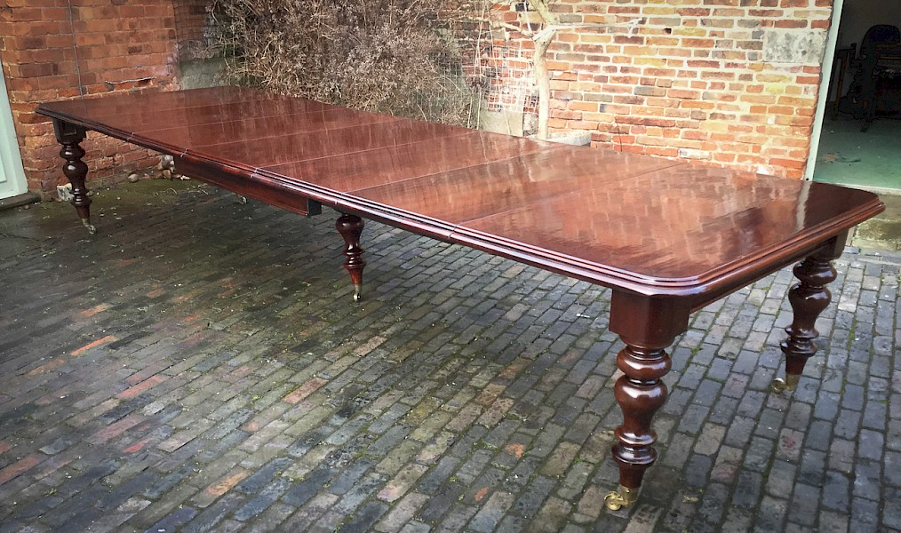 Very Large Victorian Wind Out Extending Dining Table seat 16