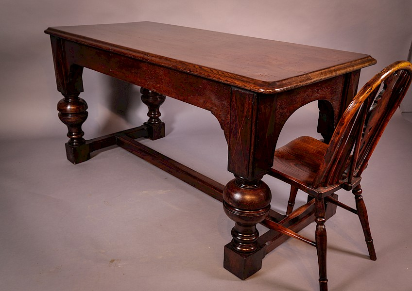 19th century Refectory Table Oak