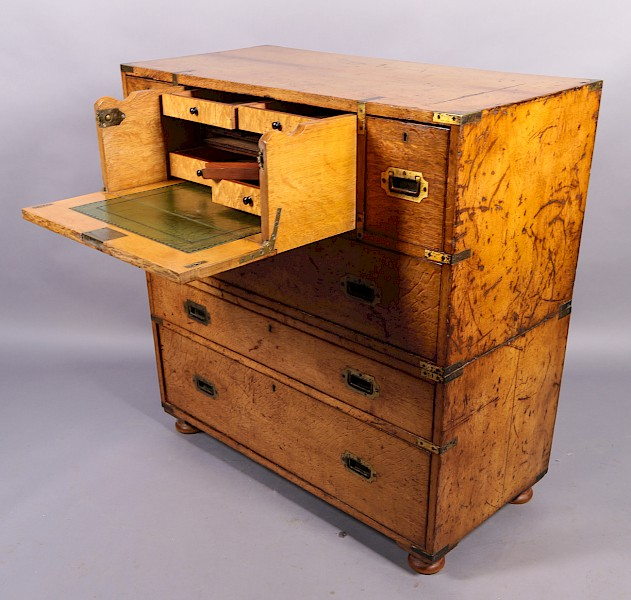 Campaign Chest with Secretair Drawer in Oak