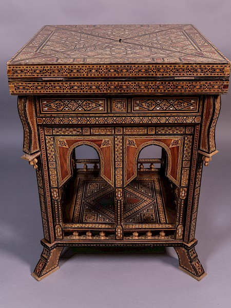 Middle Eastern Games Table Parquetry Inlay