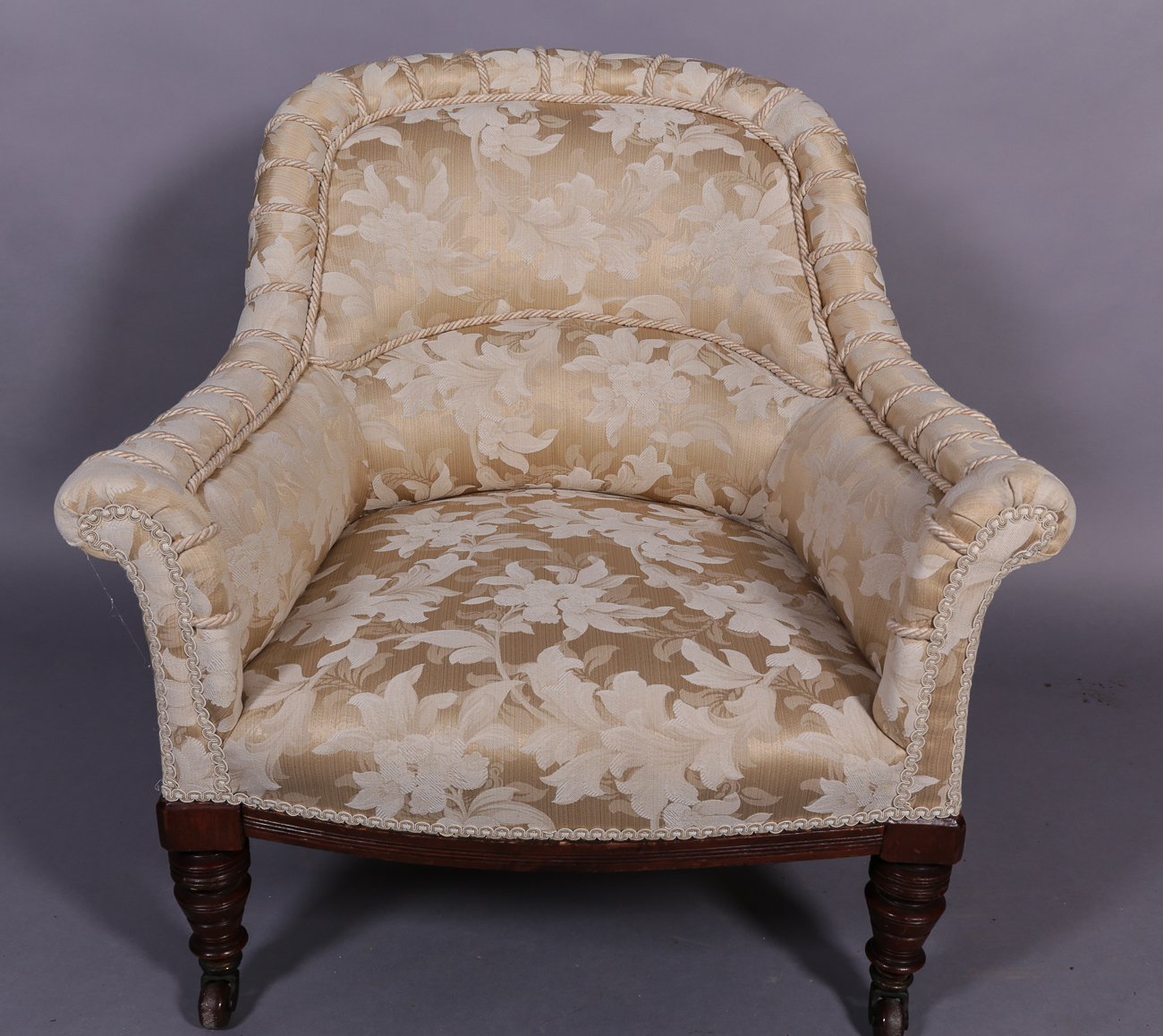 Victorian Upholstered Tub Chair | Wickersley Antiques