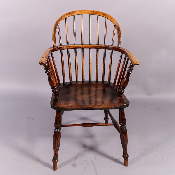 Antique Ash and Elm Windsor Chair