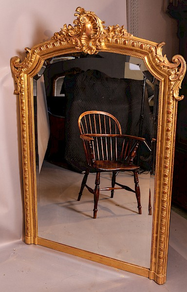 Over mantle Mirror Gilded Gesso