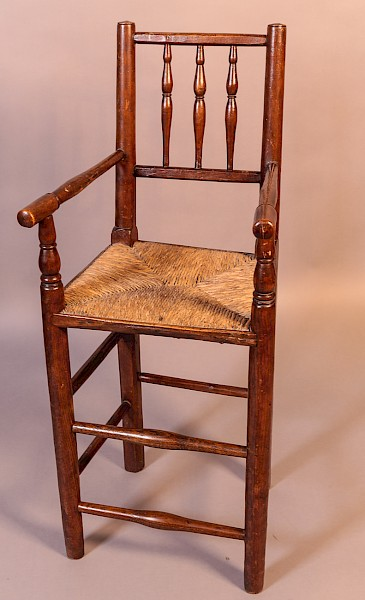 Childs High Spindle Back Chair c 1820