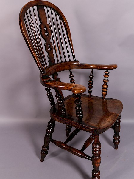 A Victorian Broad Arm Windsor Chair