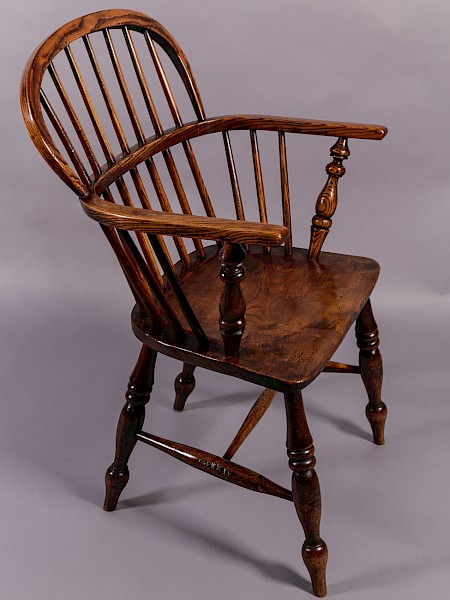 Ash and Elm Stick Back Windsor Chair