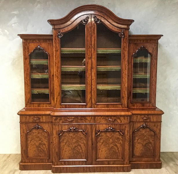 Superb Victorian Mahogany 4 Door Library Bookcase