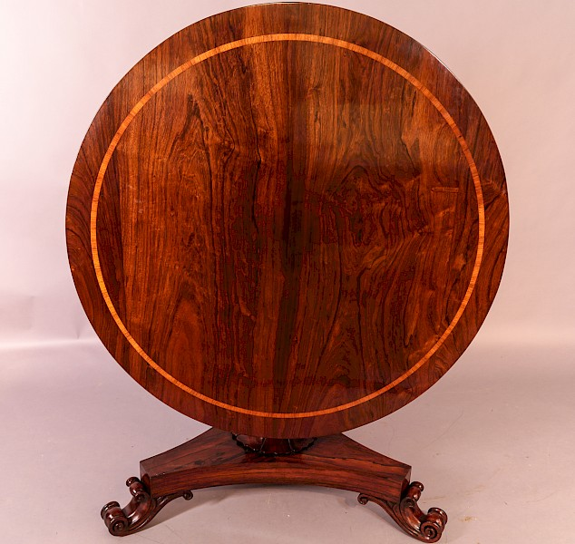 Rosewood Circular Dining Table William IV