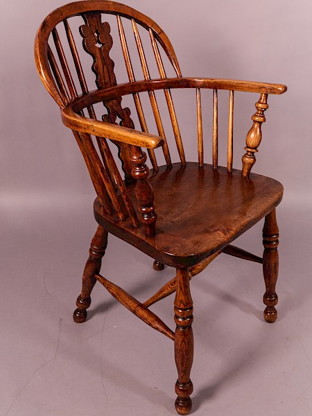 Ash and Elm Low Windsor Chair