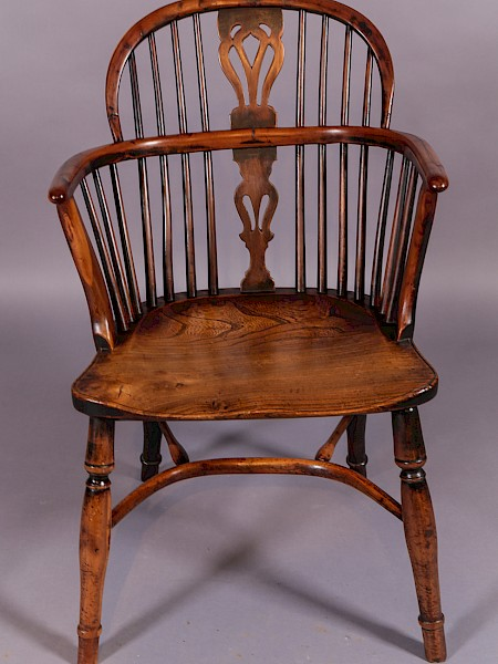 A Yew Wood Windsor Chair William Wheatland