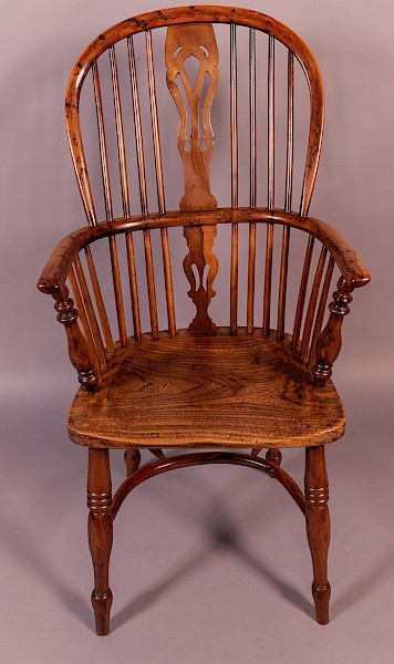 A Yew Wood High Back Windsor Chair Rockley